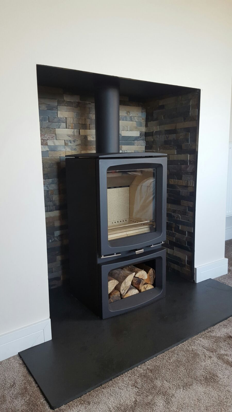Stovax Vogue with Logstore Fitted in Bodmin